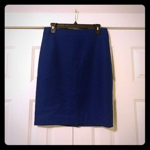 NWT Wool J.Crew Pencil Skirt in Royal Blue, 4.